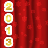 2013 snow gold. Card. new year concept Stock Photo