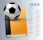 2013-soccer calendar Royalty Free Stock Photography