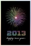 2013 spectrum. Happy new year 2013 card from pastel coloured pearls Stock Photo