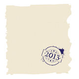 2013 stamp on paper. Grunge paper stamped with year 2013 sign Stock Photo