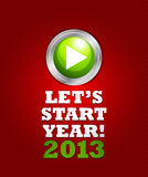 2013 start button concept. Abstract background vector illustration