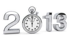 2013 steel sign with stopwatch. New year 2013 concept. 2013 steel sign with stopwatch on a white background Stock Illustration
