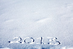 2013 su neve Fotografia Stock