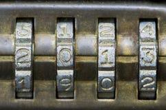2013 sulla serratura di combinazione Fotografia Stock