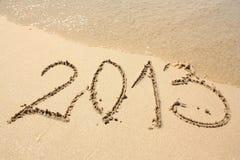 2013 sur la plage photos stock