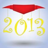 2013 Szczęśliwych Nowego Roku ilustraci sztandarów Obraz Stock