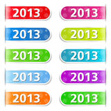 2013 Tabs. New year tabs with number 2013 Royalty Free Stock Photography