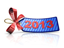 2013 tag. 3d illustration of sale tag with 2013 year sign stock illustration