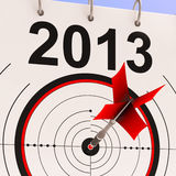 2013 Target Means Business Plan Forecast. 2013 Target Meaning Business Plan Progress Forecast Royalty Free Stock Photography