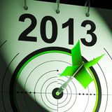 2013 Target Means Future Goal Projection. 2013 Target Meaning Future Growth Goal Projection vector illustration