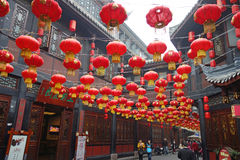 2013 templi cinesi dell'nuovo anno giusti a Chengdu Immagini Stock Libere da Diritti