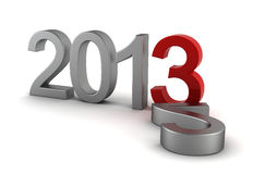 2013 text Royalty Free Stock Images