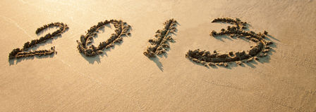 2013 tirati sulla sabbia Fotografie Stock