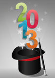 2013 top hat. Illustration of top hat with 2013 text Royalty Free Illustration