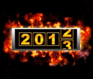 2013 under fire. Stock Photography