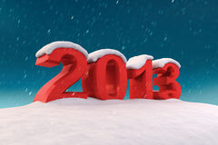 2013 under the snow. 3d illustration Stock Photography