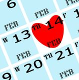 2013 valentine's date. 2013 valentine's day calendar icon Stock Illustration