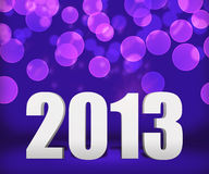2013 Violet New Year Background Stage. Image Royalty Free Stock Image