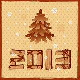 2013 wood sign Royalty Free Stock Photography