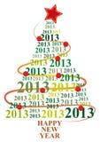 2013 xmas drzewo ilustracji