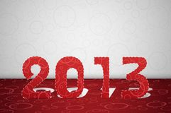 2013 year. 2013 new year cut from the paper. Eps 10 Royalty Free Stock Photos
