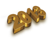 2013 year. Golden figures with shadow royalty free illustration