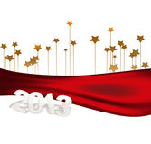2013 year. 2013 figures on the Christmas background with stars vector illustration