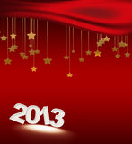 2013 year. 2013 figures on the Christmas background with stars Stock Photography