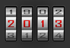 2013 year. Vector illustration of 2013 year combination lock Stock Photography