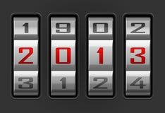 2013 year. Vector illustration of 2013 year combination lock Vector Illustration