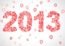 2013 year. New 2013 Year abstract balloons decoration. 3d render. Holiday background Royalty Free Stock Image