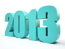 2013 year. On the black background illustration Royalty Free Stock Images