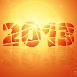 2013 year. Abstract vector background. 2013 year. Happy New Year. Merry xmas. Merry Christmas. Party background. Bright background. Orange background. Glowing stock illustration