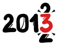 2013 year. Creative design of 2013 graffiti year Royalty Free Stock Images