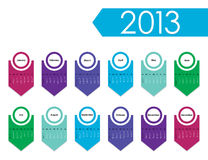 2013 year calendar. With special design Royalty Free Stock Images