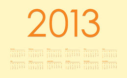 2013 year calendar. With special design Royalty Free Stock Photos