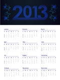 2013 year calendar Royalty Free Stock Photo