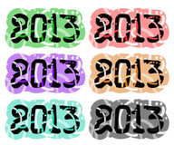 2013 year collection. Creative design of 2013 year collection vector illustration