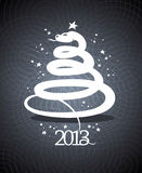 2013 year design in form of a snake. 2013 year design template in form of a snake Royalty Free Stock Image