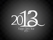 2013 year design with snake. Royalty Free Stock Image