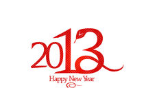 2013 year design with snake. 2013 year design template with snake vector illustration