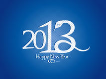 2013 year design with snake. Royalty Free Stock Photo