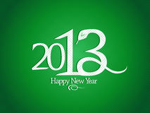 2013 year design with snake. Stock Image