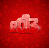 2013 year from glass. Eps 10 Stock Image