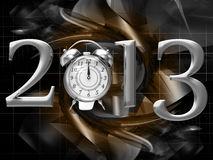 2013 year inscription. On the abstract background Royalty Free Stock Image