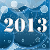 2013 year inscription Royalty Free Stock Photography