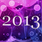 2013 year inscription. On the abstract background Royalty Free Stock Photos