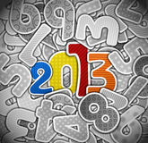 2013 year from a paper Royalty Free Stock Photo