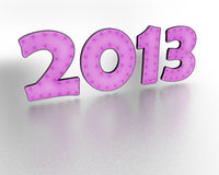 2013 year pink text. On white background Royalty Free Stock Images