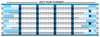2013 Year Planner. Just 2013 Year Planner, The vector file can be resized to any size you need with the needed resolution. Be free Royalty Free Stock Photography